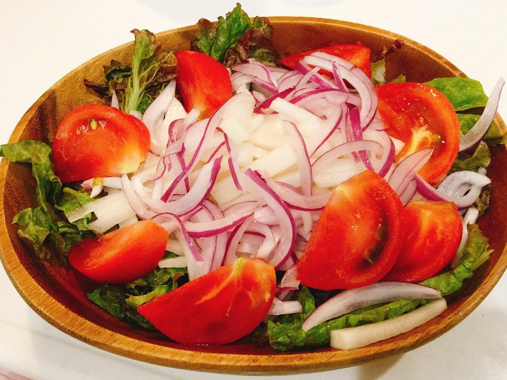 タップリ野菜が食べられる!やきとりマヨドレッシング 手順①