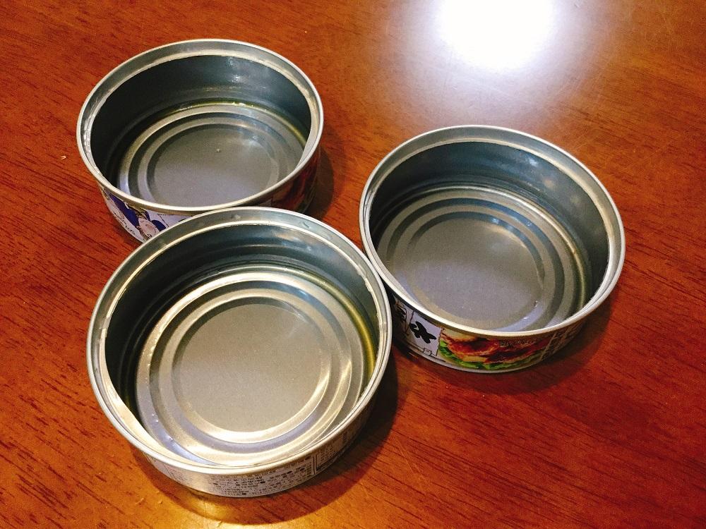 ホテイ やきとり たれ味 3缶 空き缶